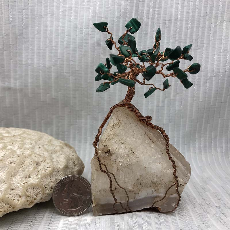 Wire-wrapped tree sculpture by The Bead Muse