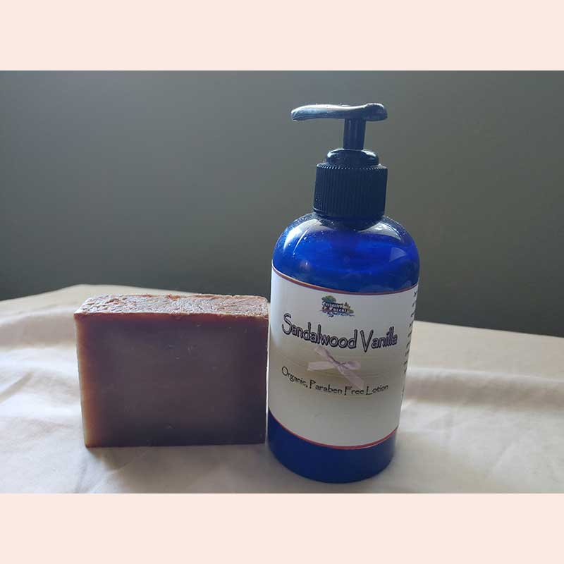 Organic soap and lotion by Enchanted Forest