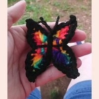Crocheted butterfly Lily's Dragon Nest