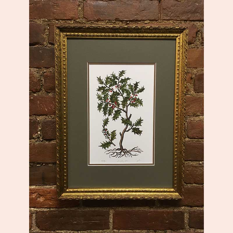 Holly leaves print by Fenix Forgeries