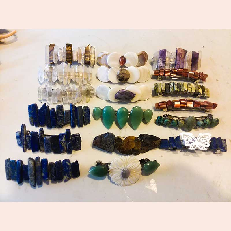 Hair barrettes by Candy's Creations 4 U