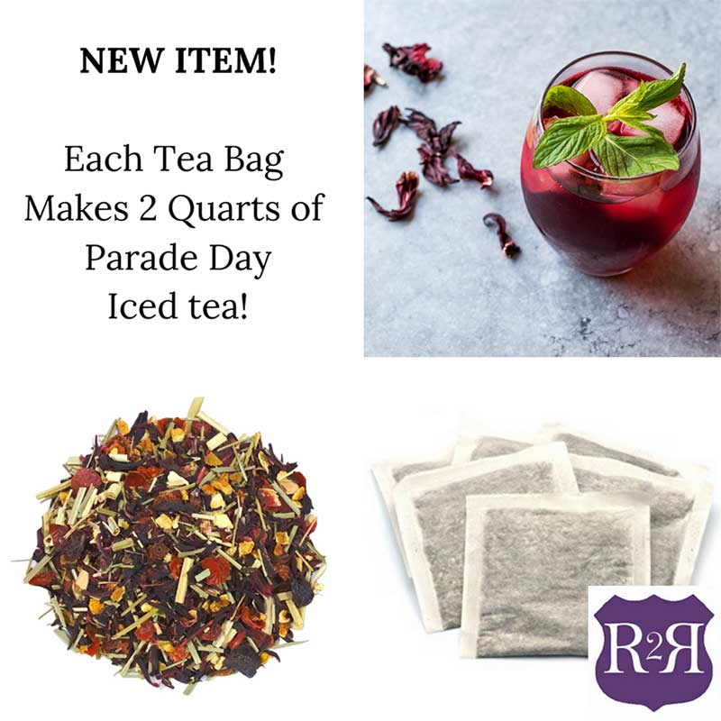 Tea and tea bags by Route2Route Botanicals