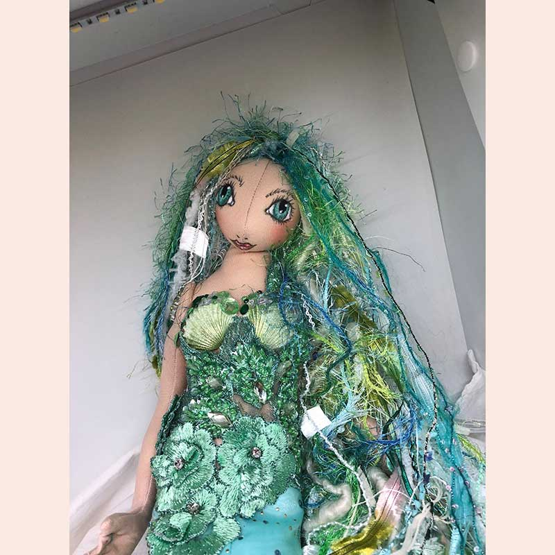 Mermaid doll by Whispers from the Past