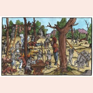 Reproduction of Rabbit Hunters print by Fenix Forgeries