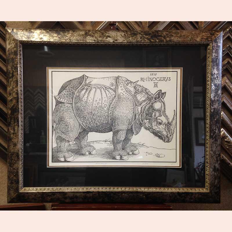 Rhinoceros print by Fenix Forgeries