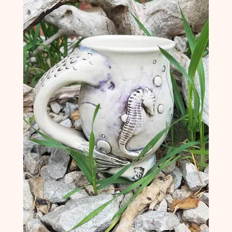 Seahorse-Mermaid pitcher by 3 Dandelion Seeds