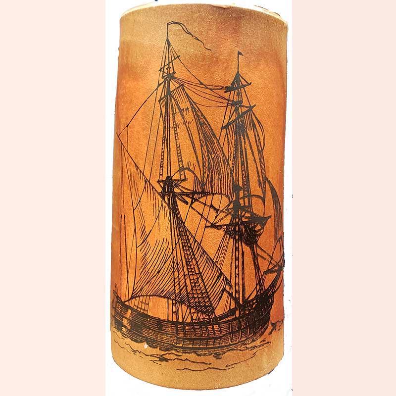 Tall Ship Flagon by D&U Leather Mugs