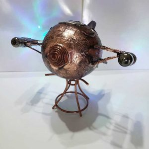 Metal Steampunk Airship by Manipulations In Wire