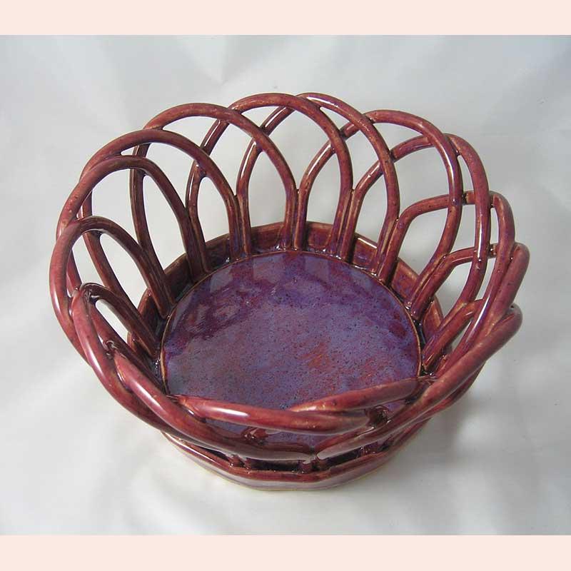 Ceramic Basket by Prancing Pony Pottery