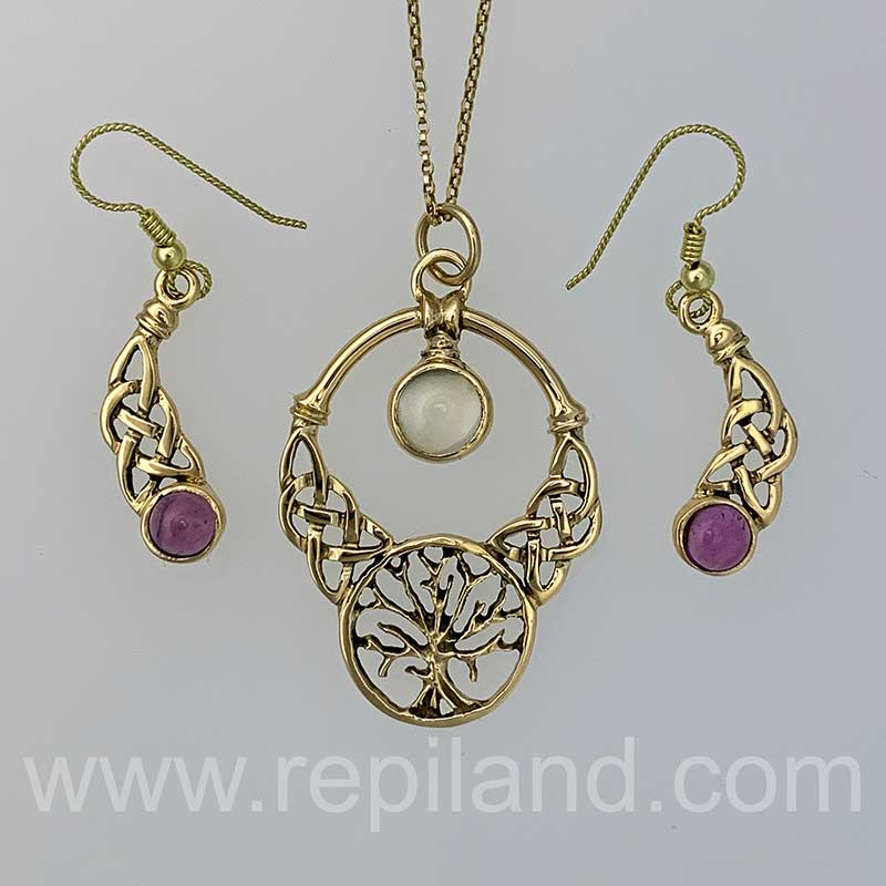 Fine Pendant and Earrings by R.E. Piland Goldsmith