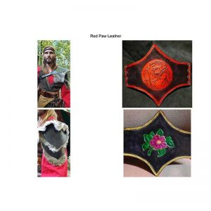 Paldrons and Waist Cinchers by Red Paw Leather
