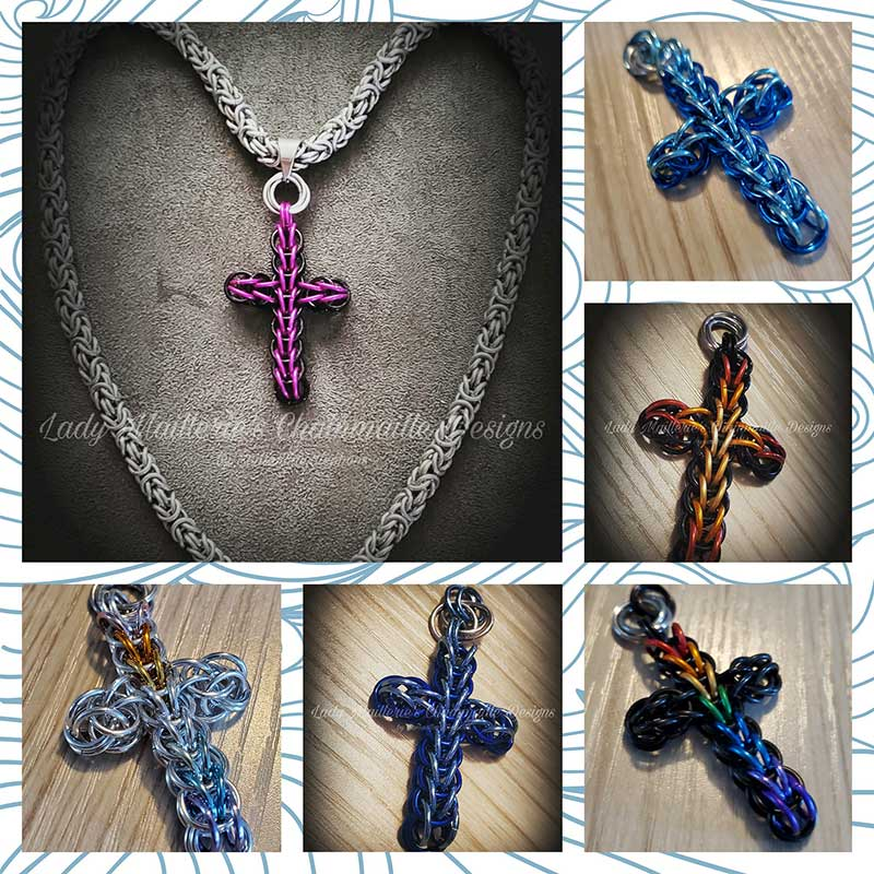 Chainmaille Crosses by Lady Maillerie Designs