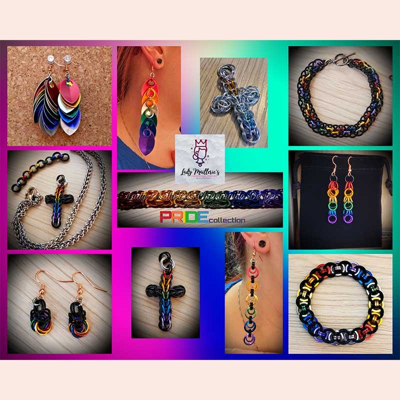 Pride Chainmaille Collection by Lady Maillerie Designs