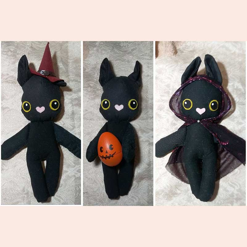 Plush Cats by Flittermouse Handmade