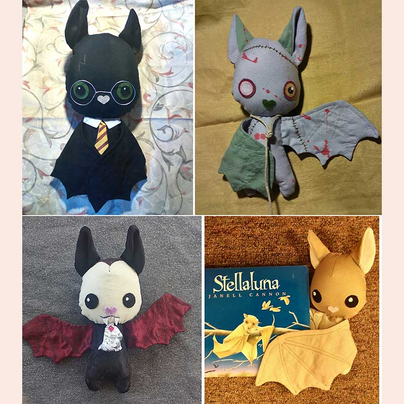 Plush Characters by Flittermouse Handmade
