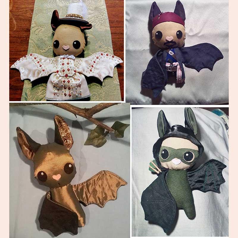Plush Bats by Flittermouse Handmade